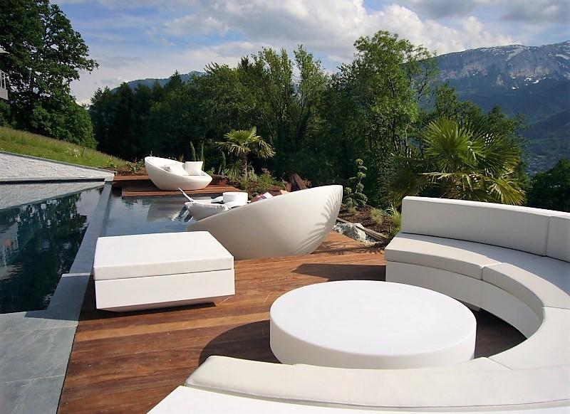 Low table Vondom design Vela round white. UniDecoShop ...